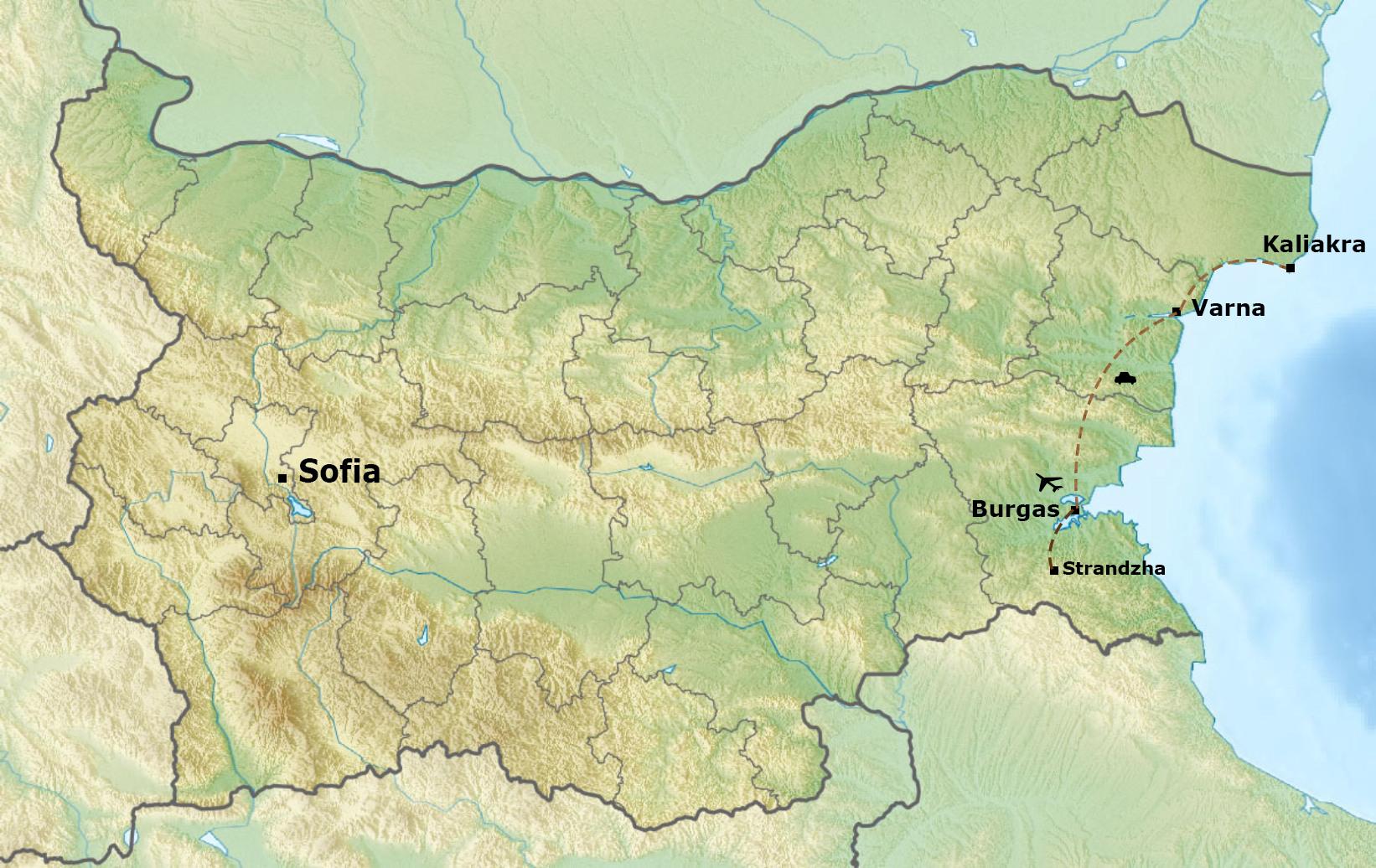 Autumn migration tour Map